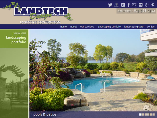website - Landtech Landscape Contractors